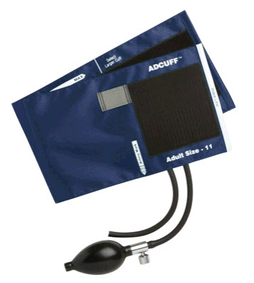 ADC 865-11AN Adcuff Sphyg Inflation System, Navy adc, adview cuff,  adult cuff navy,, cuff adc, adview cuff, adc 865-11an
