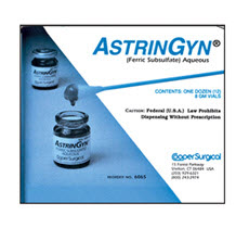 CooperSurgical 6065 AstriGyn Monsels Solution. Box of 12 AstriGyn, Monsel, 6065, CooperSurgical 6065, CooperSurgical astrigyn