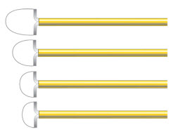CooperSurgical LEEP Loop Electrodes - Large Radius. Box of 5 (Different Sizes) LEEP ELectrodes, Large Radius Loop