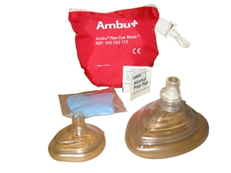Kemp 10-523 AMBU CPR Mask Combo Adult and Child in Soft Pouch kemp 10-523, ambu cpr, cpr mask child, adul cpr ambu