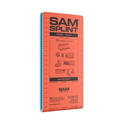 "SAM Splint 18"" lightweight, reusable, radiolucent, waterproof, compact, versatile. splint"