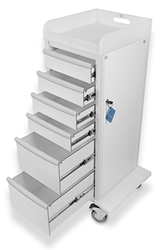 TrippNT Carts Element 04 Advanced Extra Tall Medical Cart trippnt, cart, element, advanced, extra, tall, medical