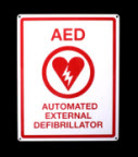ZOLL 8000-0825 Flat Wall Sign For AED Plus aed plus wall, wall sign, zoll aed wall sign,