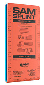 "SAM Wrist Splint 9"" lightweight, reusable, radiolucent, waterproof, compact, versatile, splint"