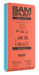 "SAM Splint 36"" (Different Versions) fractured, injured, limb. lightweight, reusable, radiolucent, waterproof, compact, versatile."