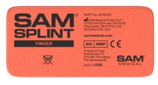 SAM Finger Splint lightweight, Reusable, Radiolucent, Waterproof, Compact, Versatile, sling