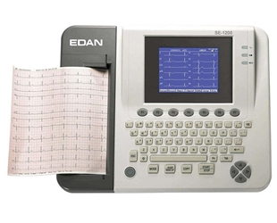 EDAN SE-1200 ECG Resting Machine edan, se,1200, ecg, ekg, monitor, heart, medical, equipment, EDAN_ECG,