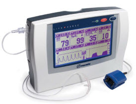 Nonin LifeSense WideScreen Capnography and Oximetry Monitor nonin lifesense, capnography, oximetry monitor, lifesense monitor