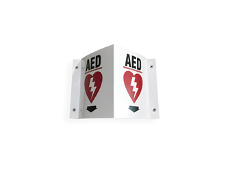 Wall Mounted 3 Dimensional Sign for AEDs zoll, zoll aed plus wall sign, wall sign aed, aed plus wall sign, aed sign, zoll sign, ZOLLAEDAccessories,