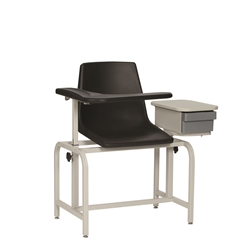 Winco 2570 Basic Blood -Drawing Chair- Plastic Seat (W/drawer)